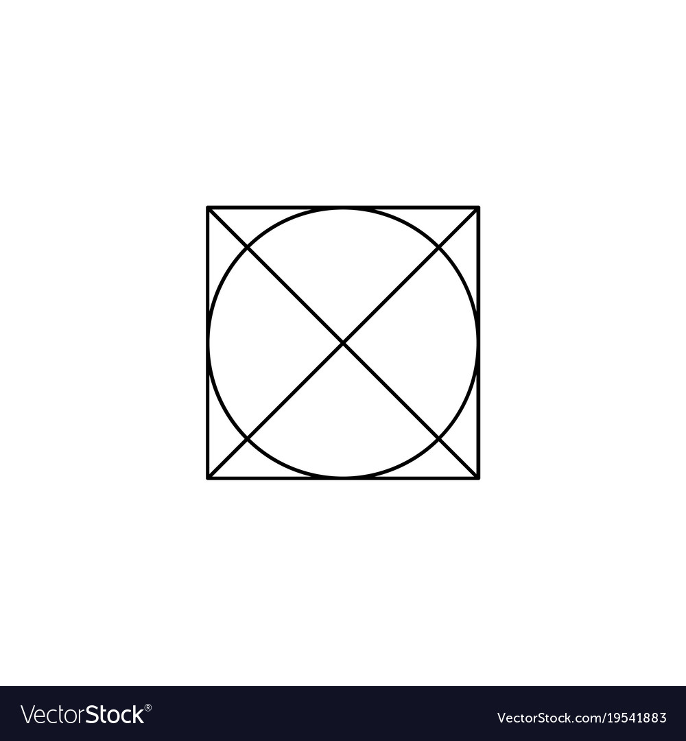 Do Not Tumble Dry Washing Laundry Symbol Line Vector Image