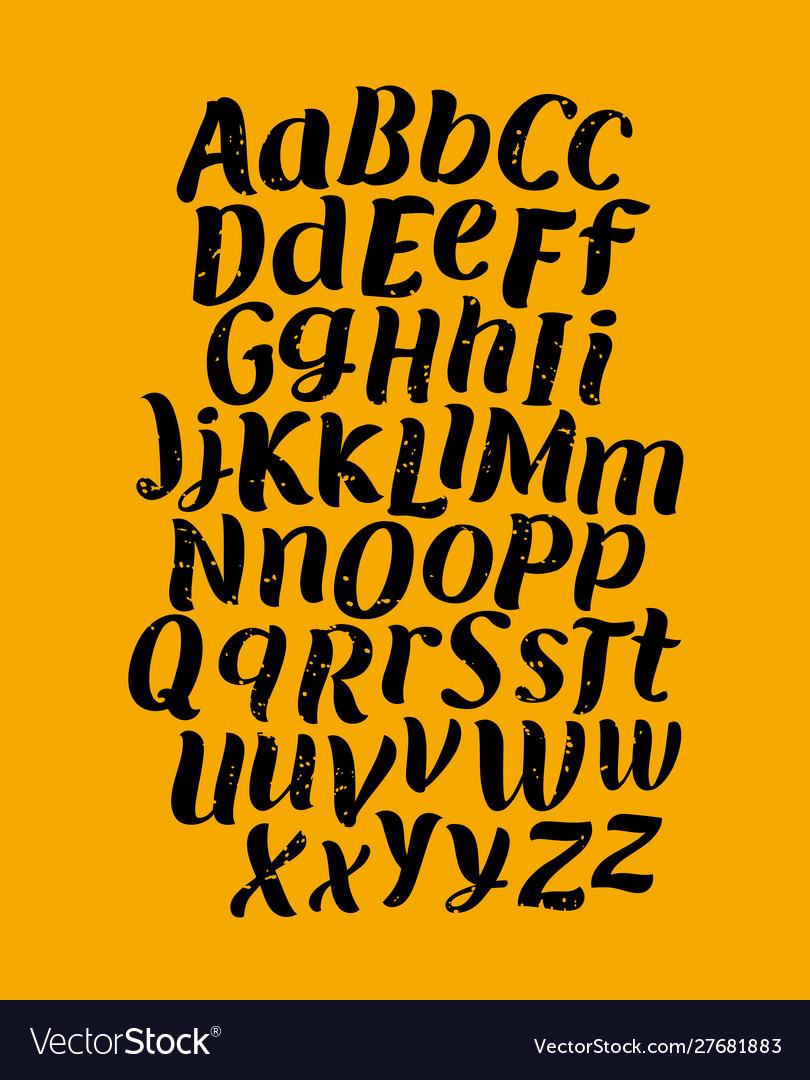 Hand made brush typeface handwritten font