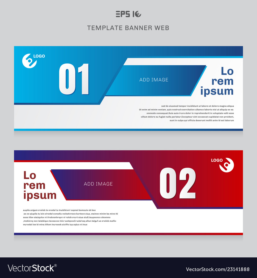 Banner web template layout abstract geometric red