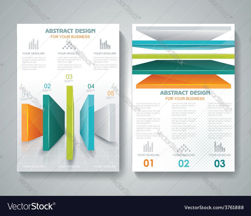 Brochure Template Design With D Elements Vector Image - 3d brochure template