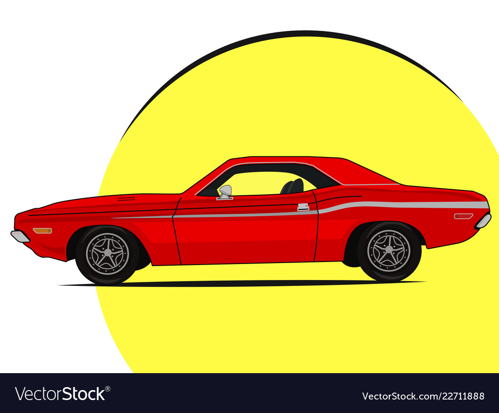 Muscle car bright icon