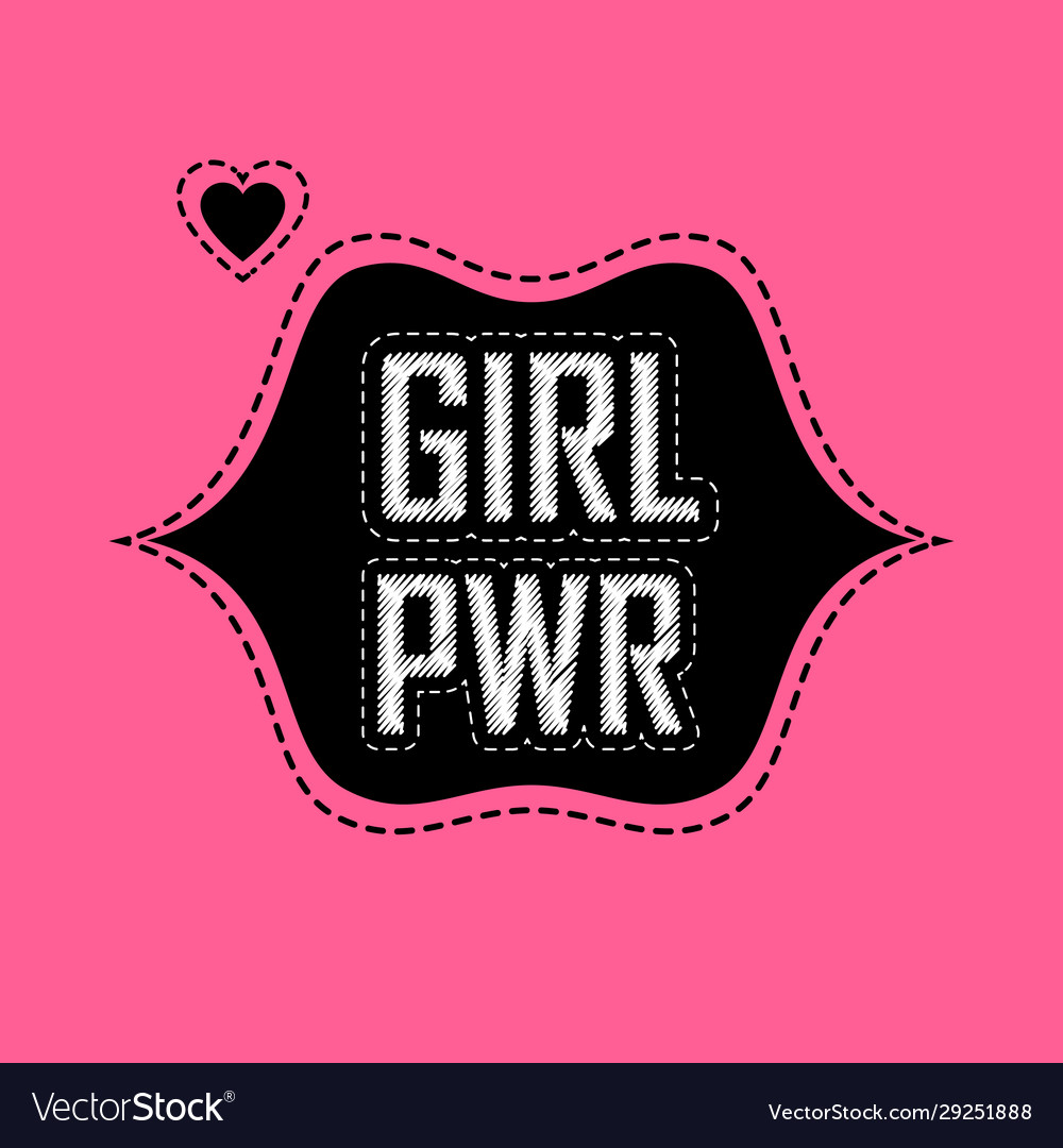 Patch for t-shirt with inscription girl power