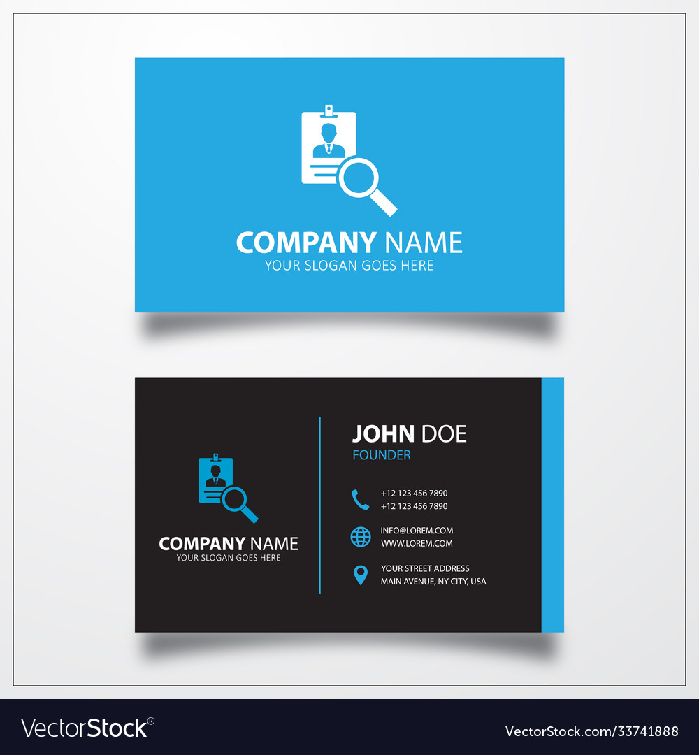 Search id card icon business card template