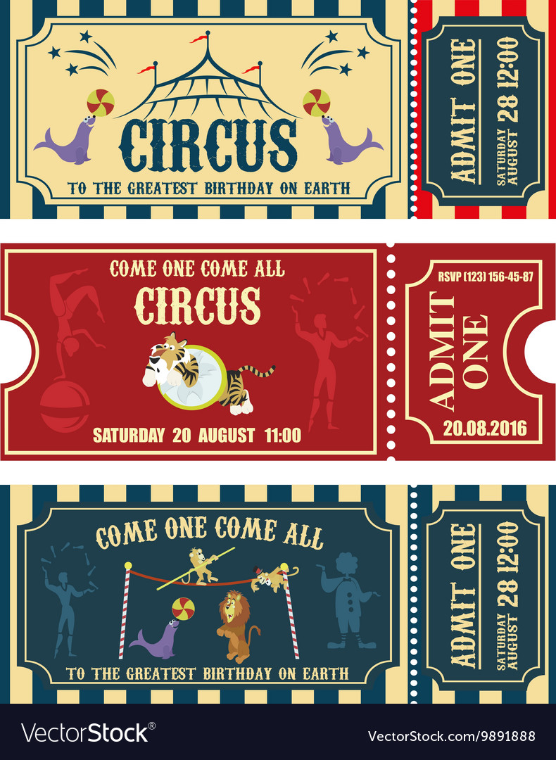 Vintage Circus banner collection Ticket