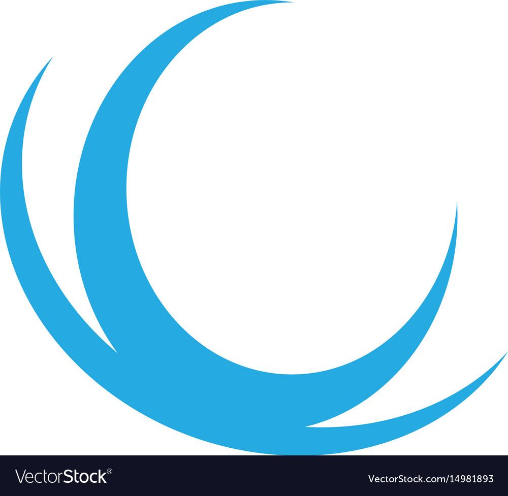 Abstract wave logo image