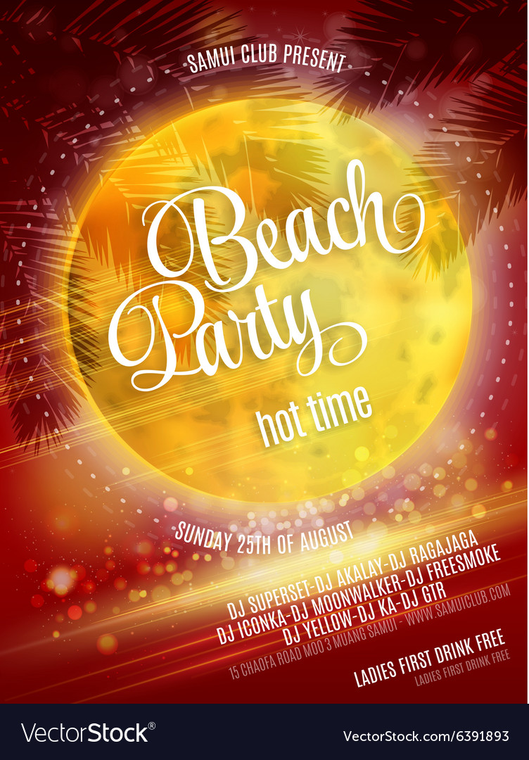 Beach Party Poster EPS 10