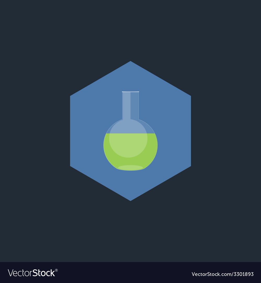 Chemical test tubes flat icon