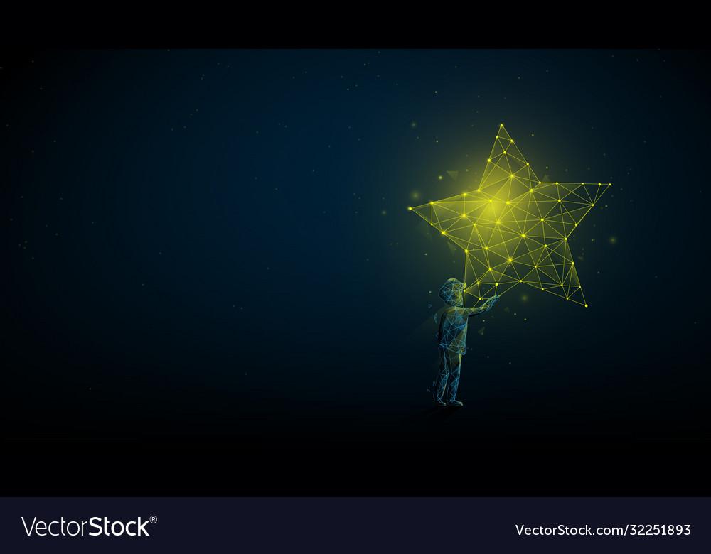Children reaching for star take a star