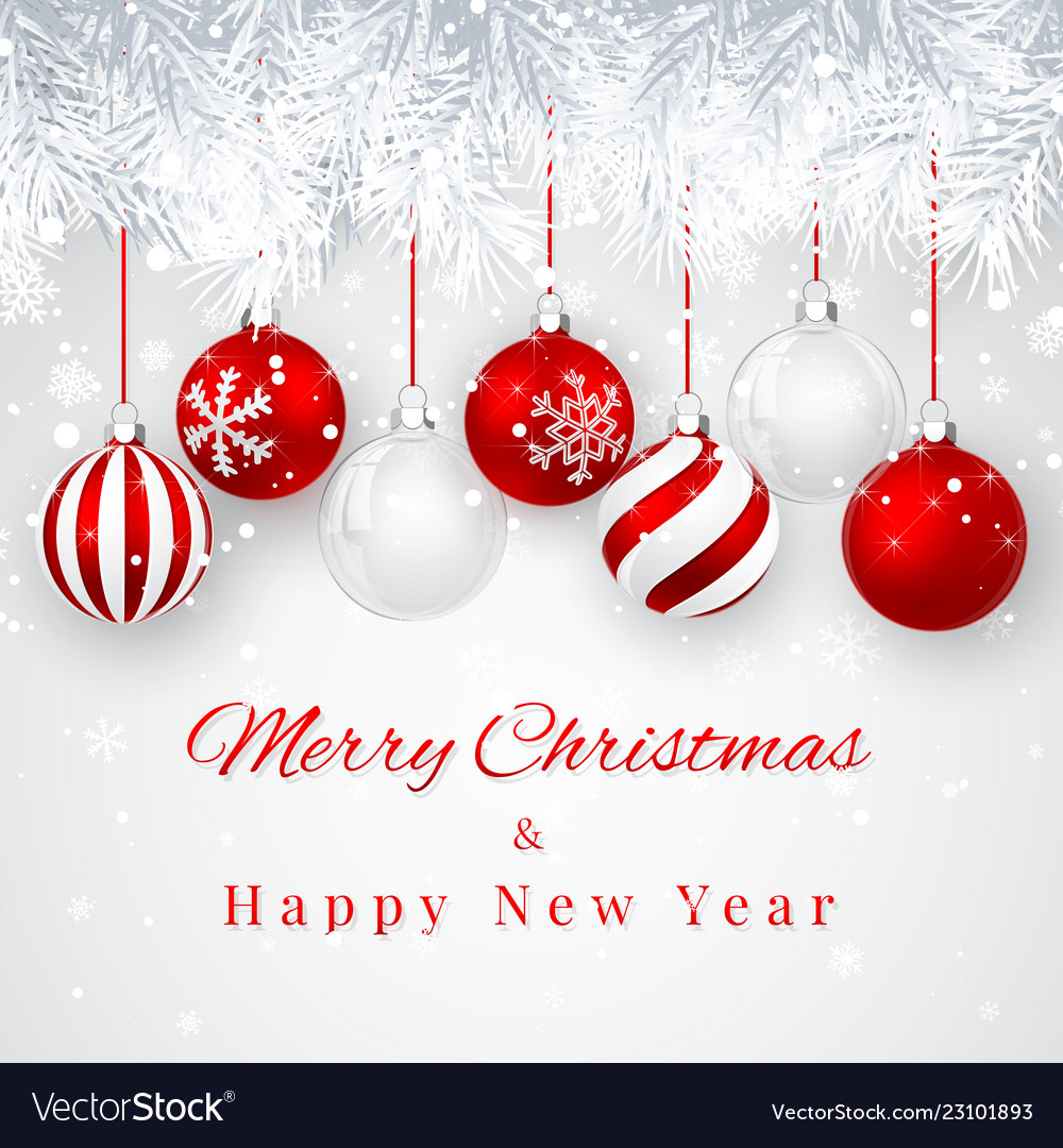 Christmas and new year background with red