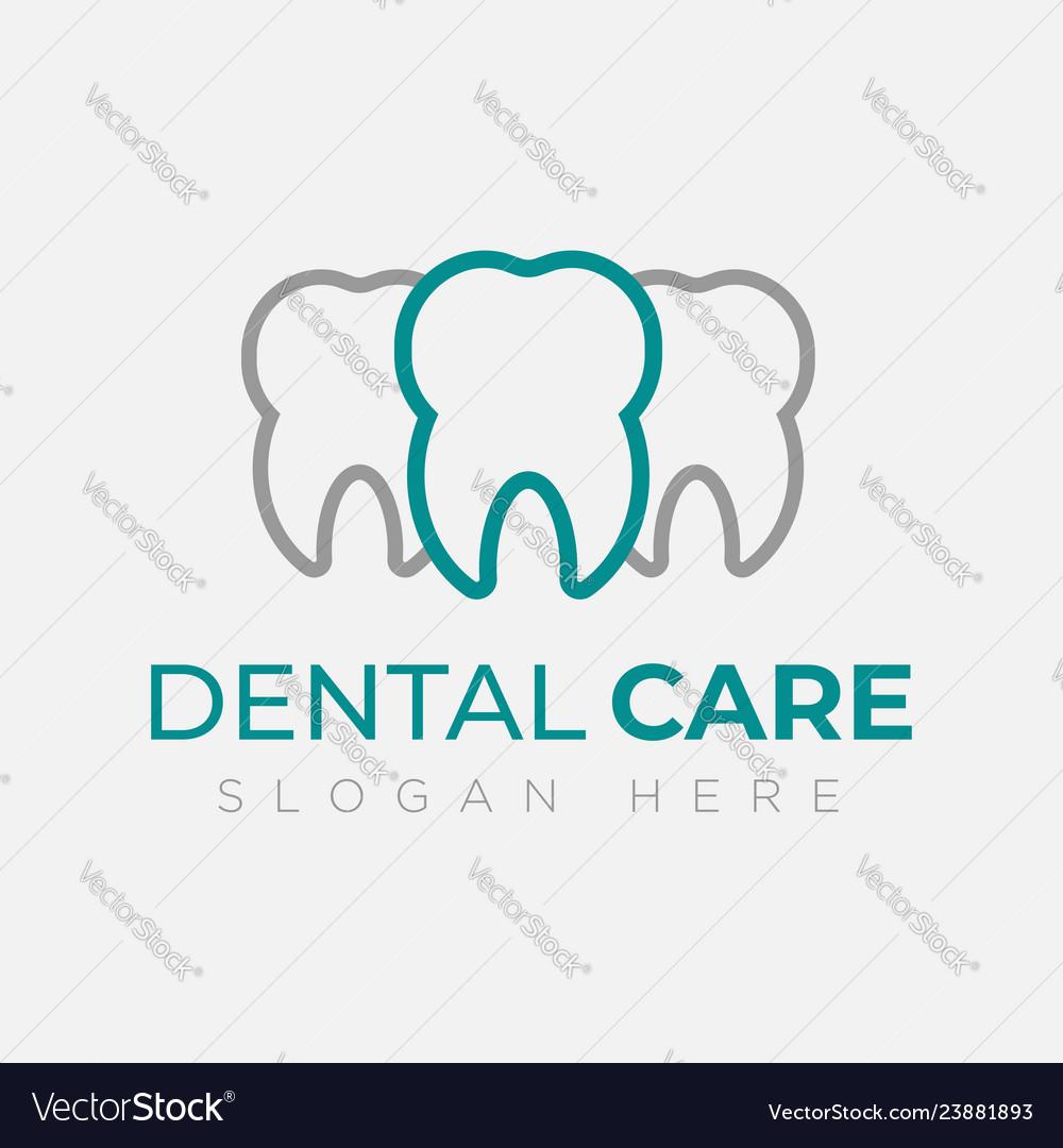 Dental logo design template creative sign
