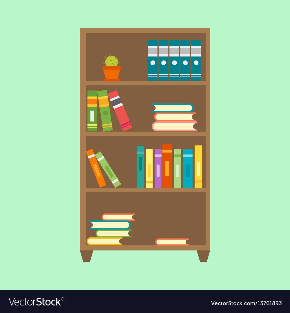 Flat design wardrobe of cupboard icon isolated vector image