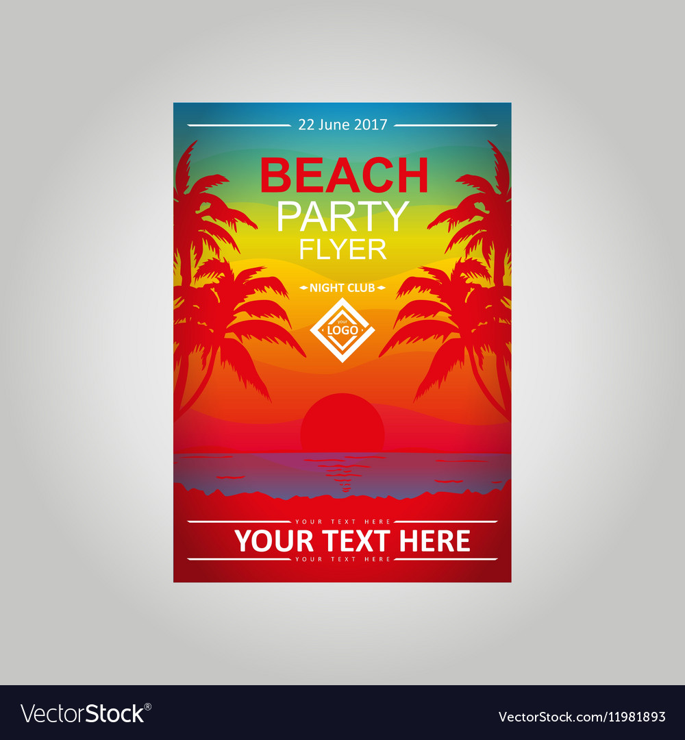 Flayer Beach Party