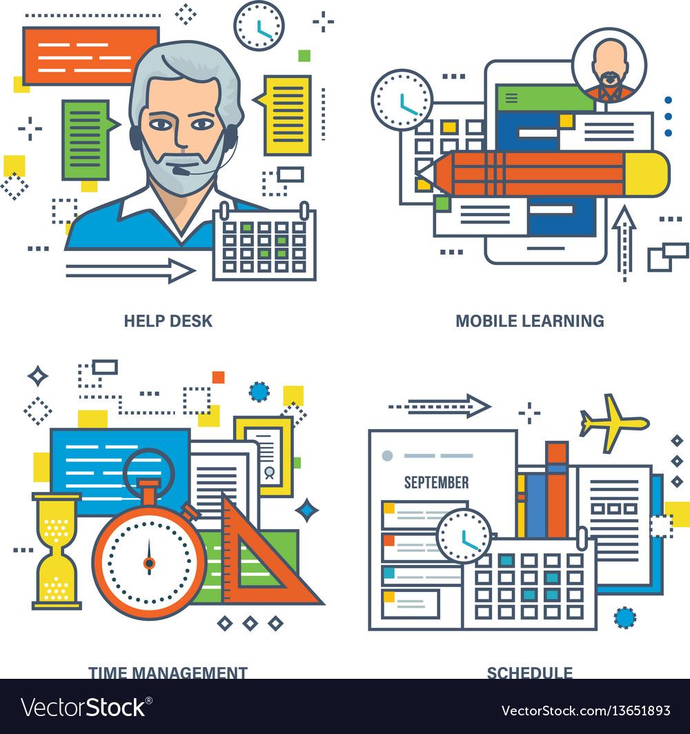 Help desk mobile learning time management