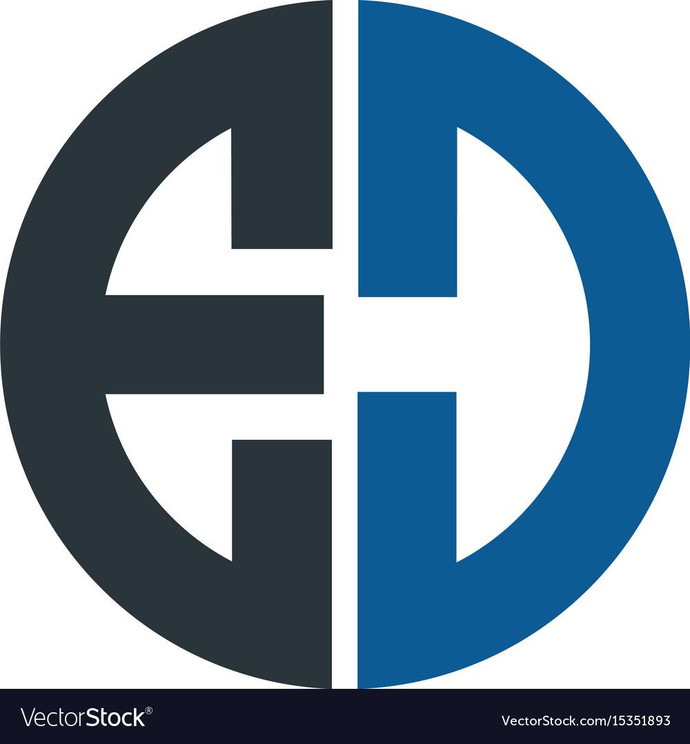 Letter ed logo design