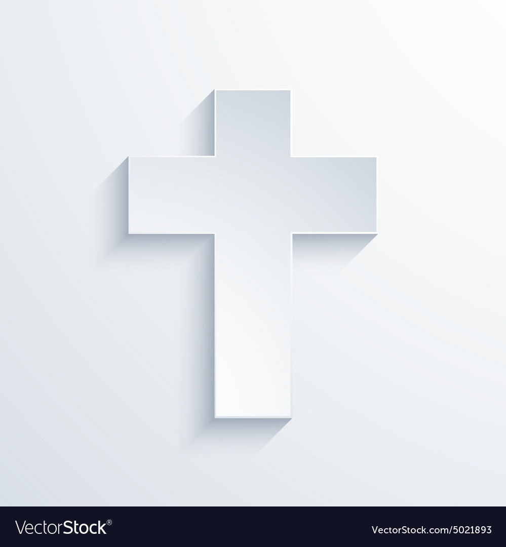 Modern religious cross icon with long