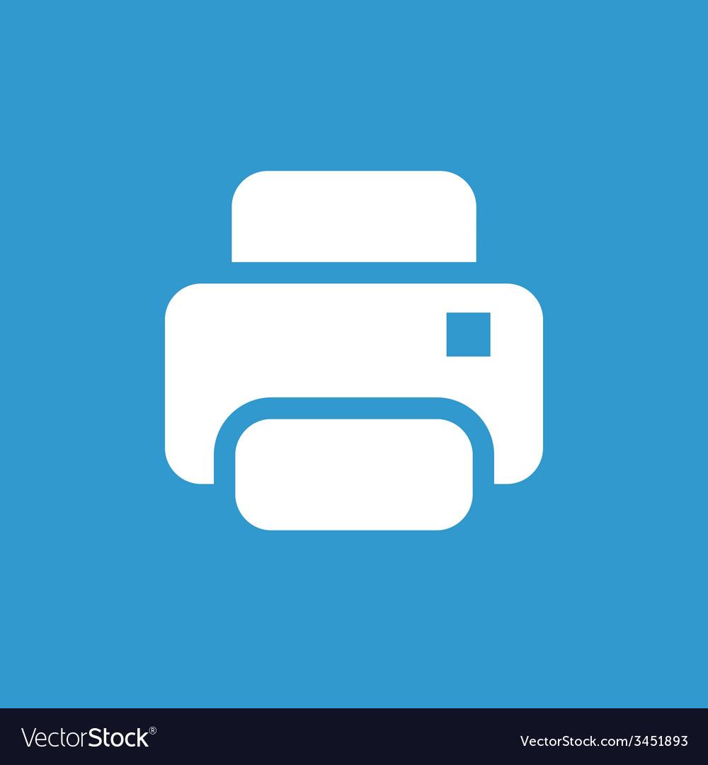 Printer icon white on the blue background