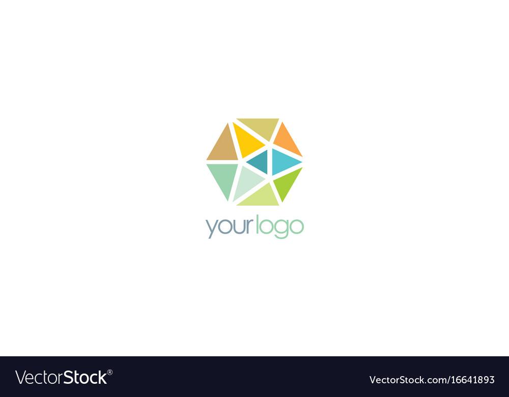 Triangle crystal colorful logo