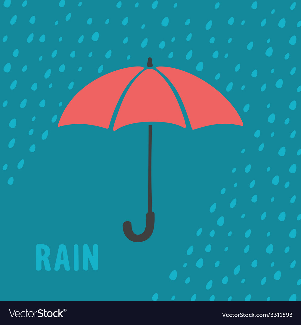 Umbrella and rain background