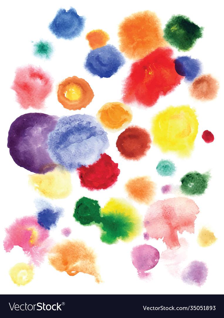 Watercolor circles hand drawn