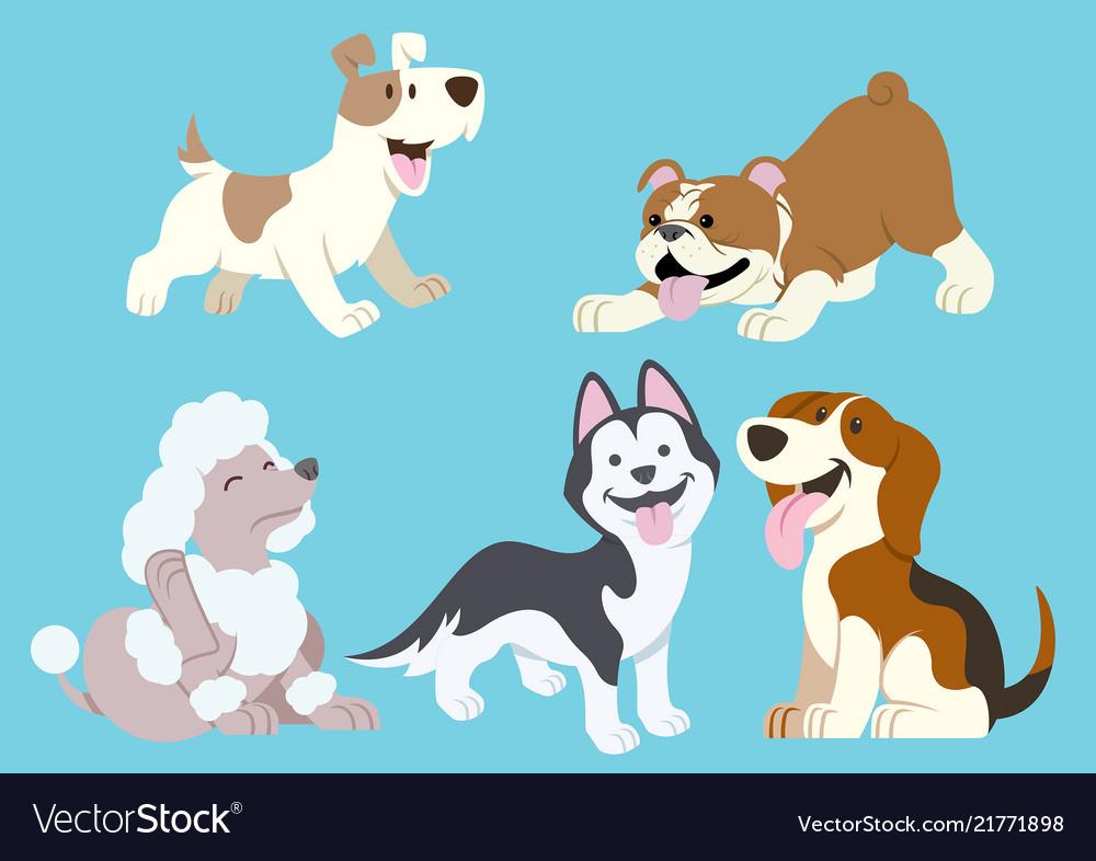 Dog cartoon set