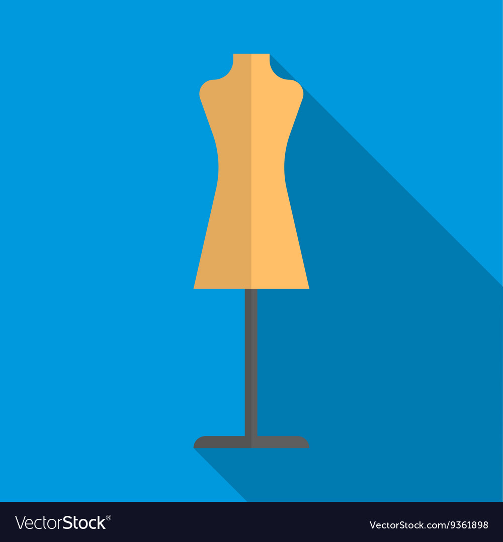 Dressmakers model icon flat style vector image