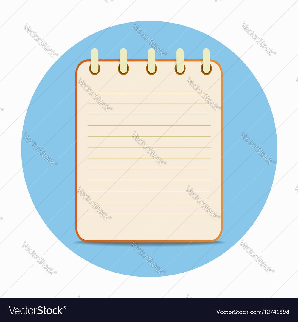 Flat template orange notepad