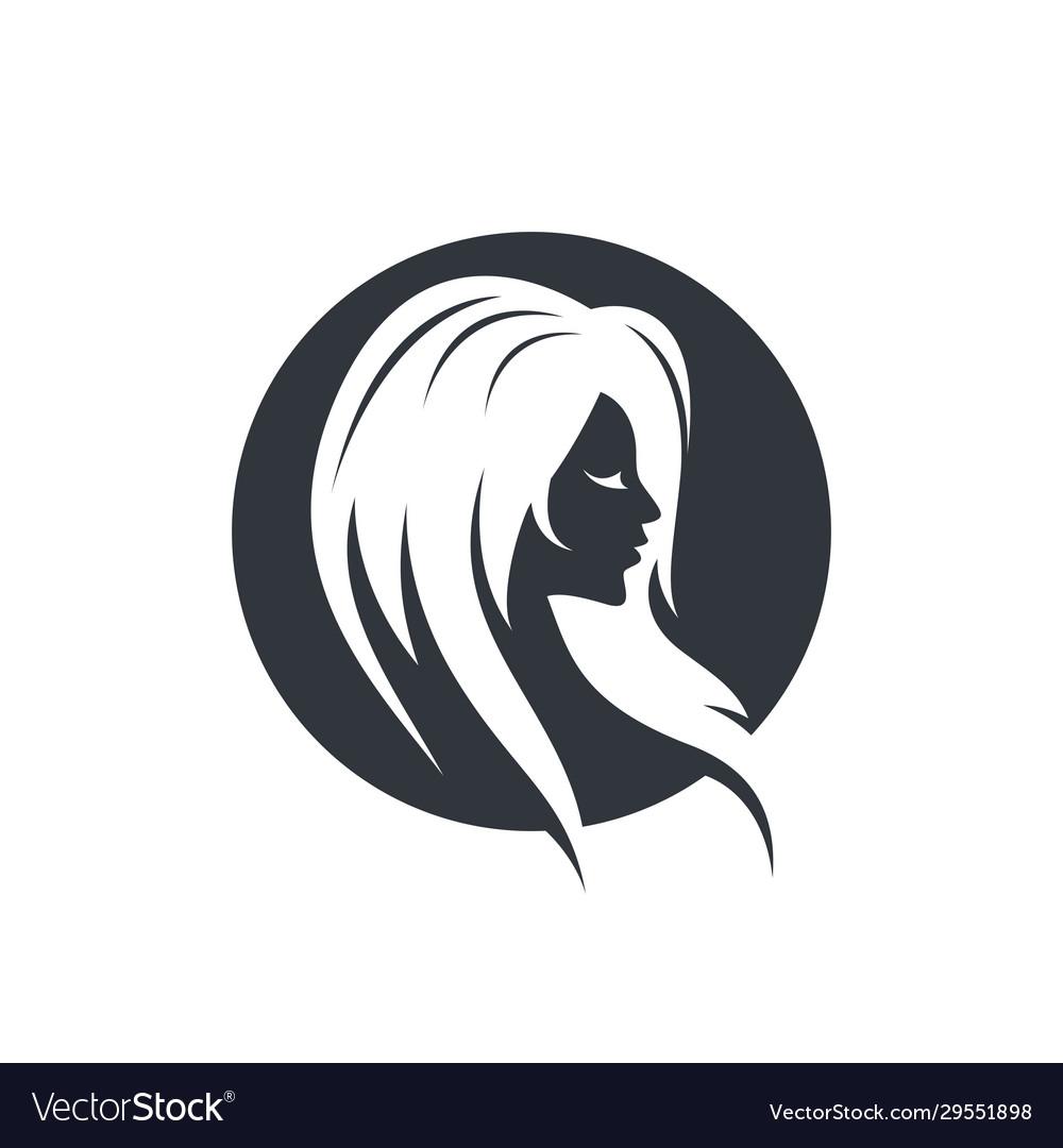 Hair Salon Logo Icon Royalty Free Vector Image