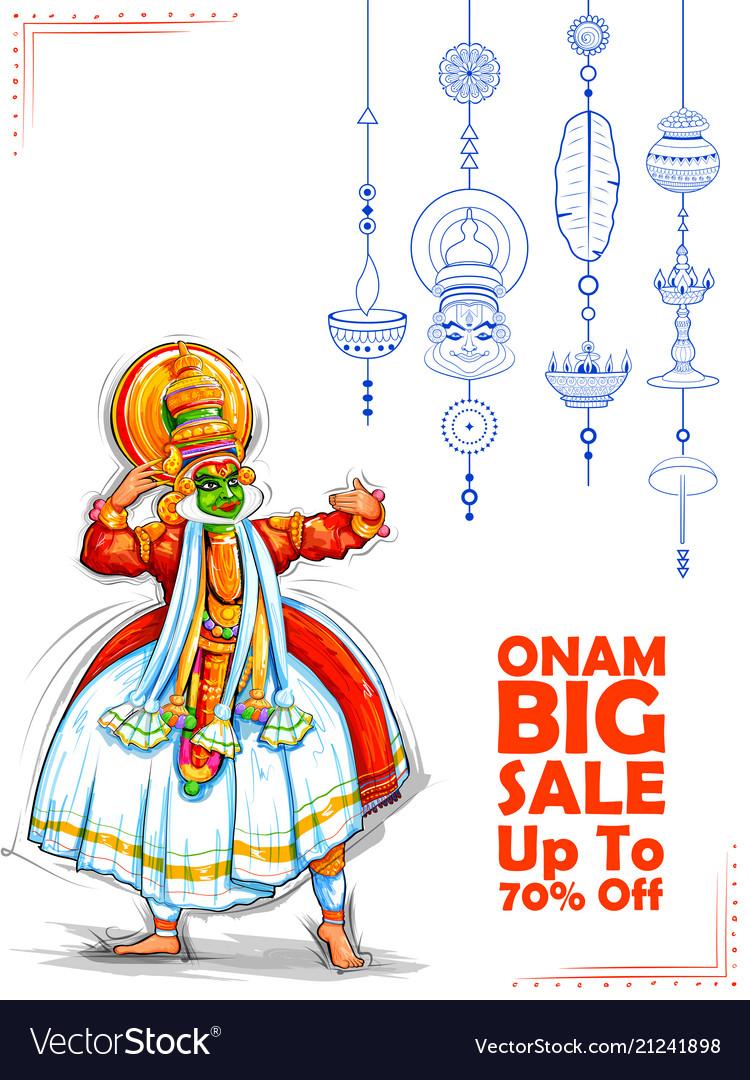 Kathakali dancer on advertisement and promotion