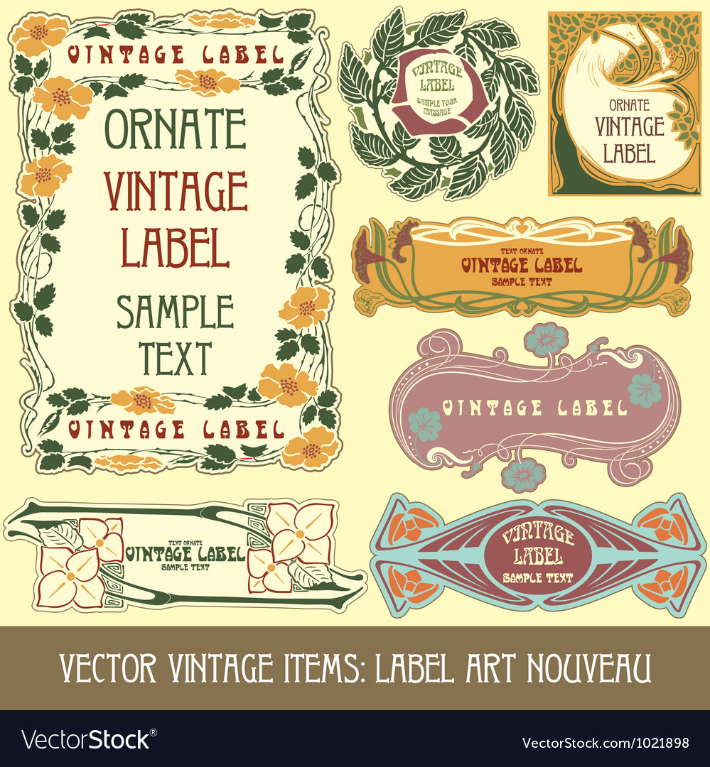 Label art nouveau