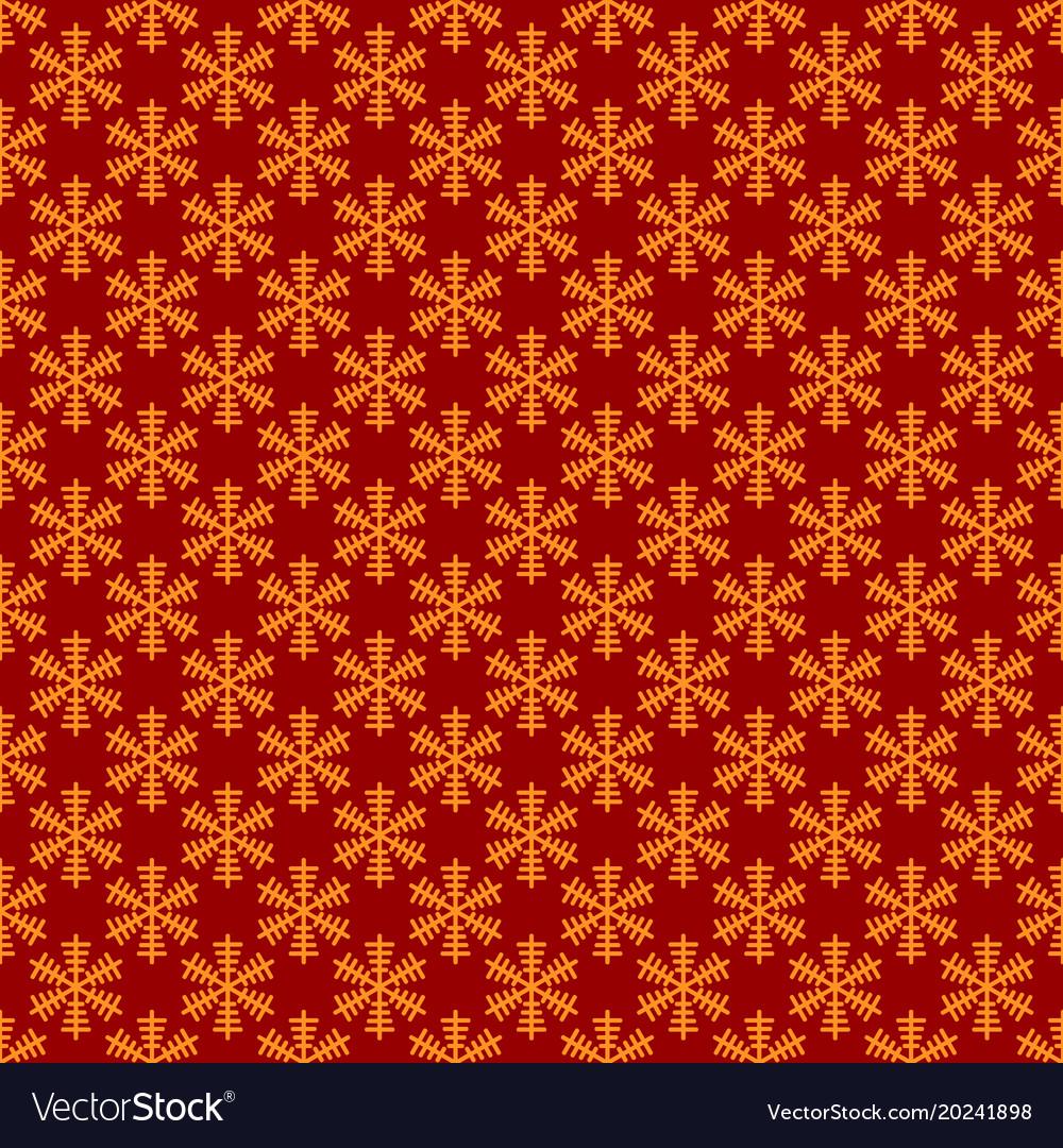 Retro simple stylized snowflake pattern wallpaper