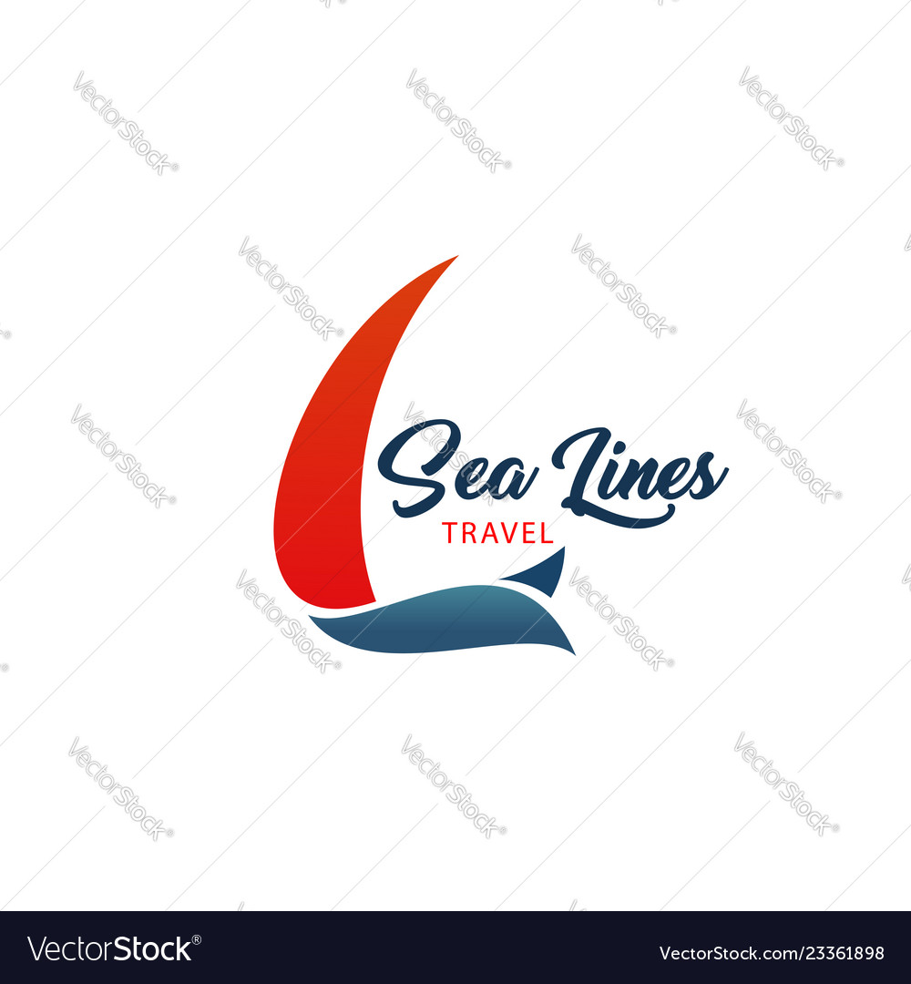 Sea lines travel agency icon