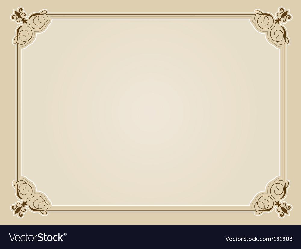 blank certificate royalty free vector image vectorstock