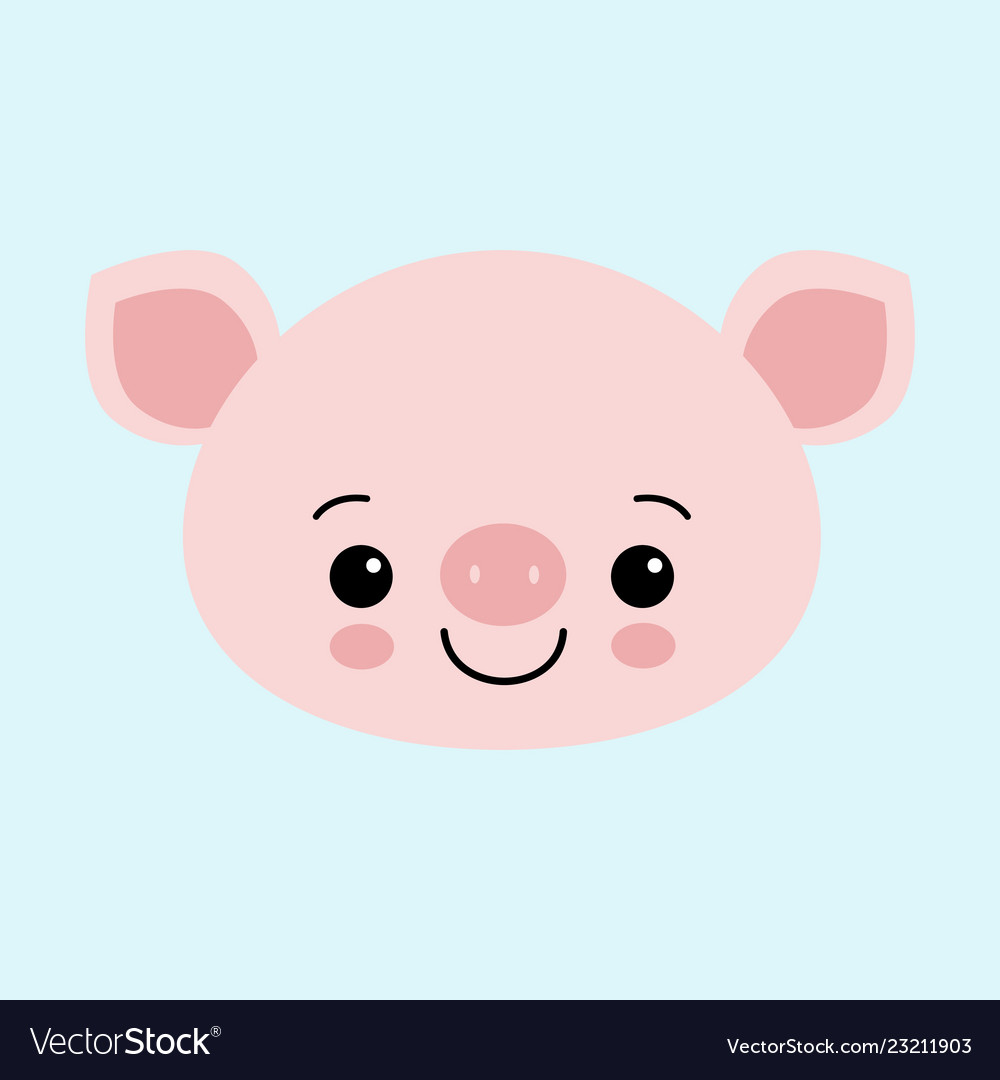 Cute pink pig happy new year chinese symbol of