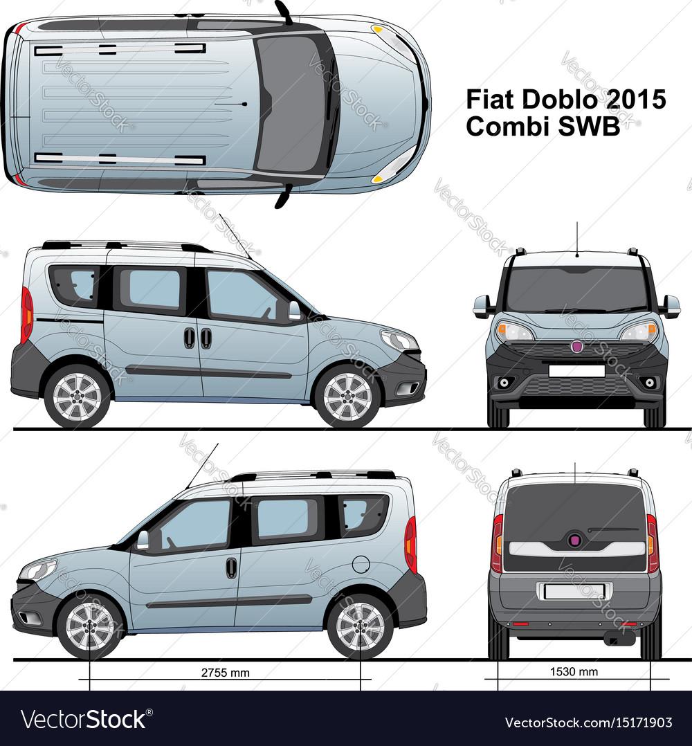 Fiat doblo combi swb 2015 Royalty Free Vector Image