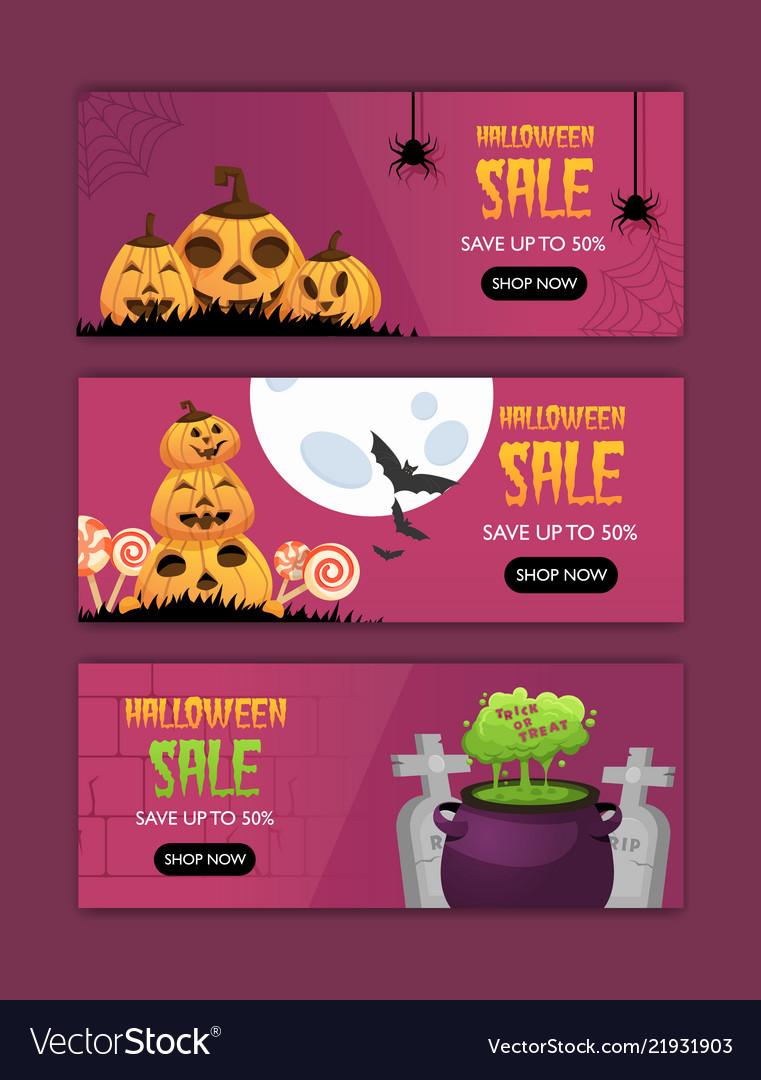 Happy halloween invitation posters