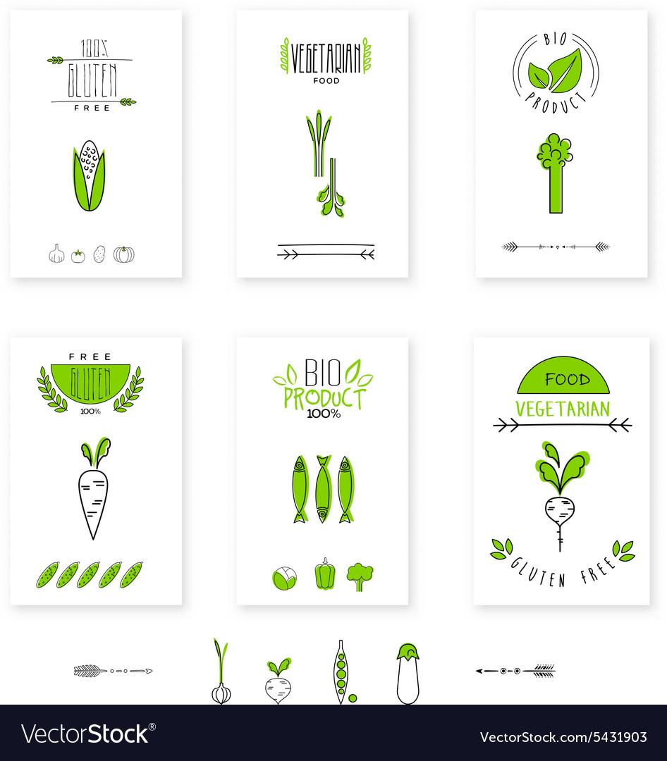 Healthy food card vegetables vegetarians eco
