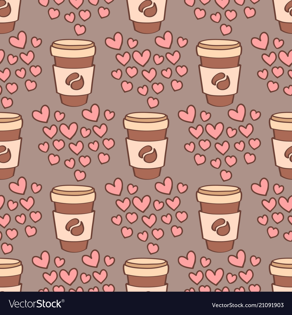 Heart sharp seamless pattern background