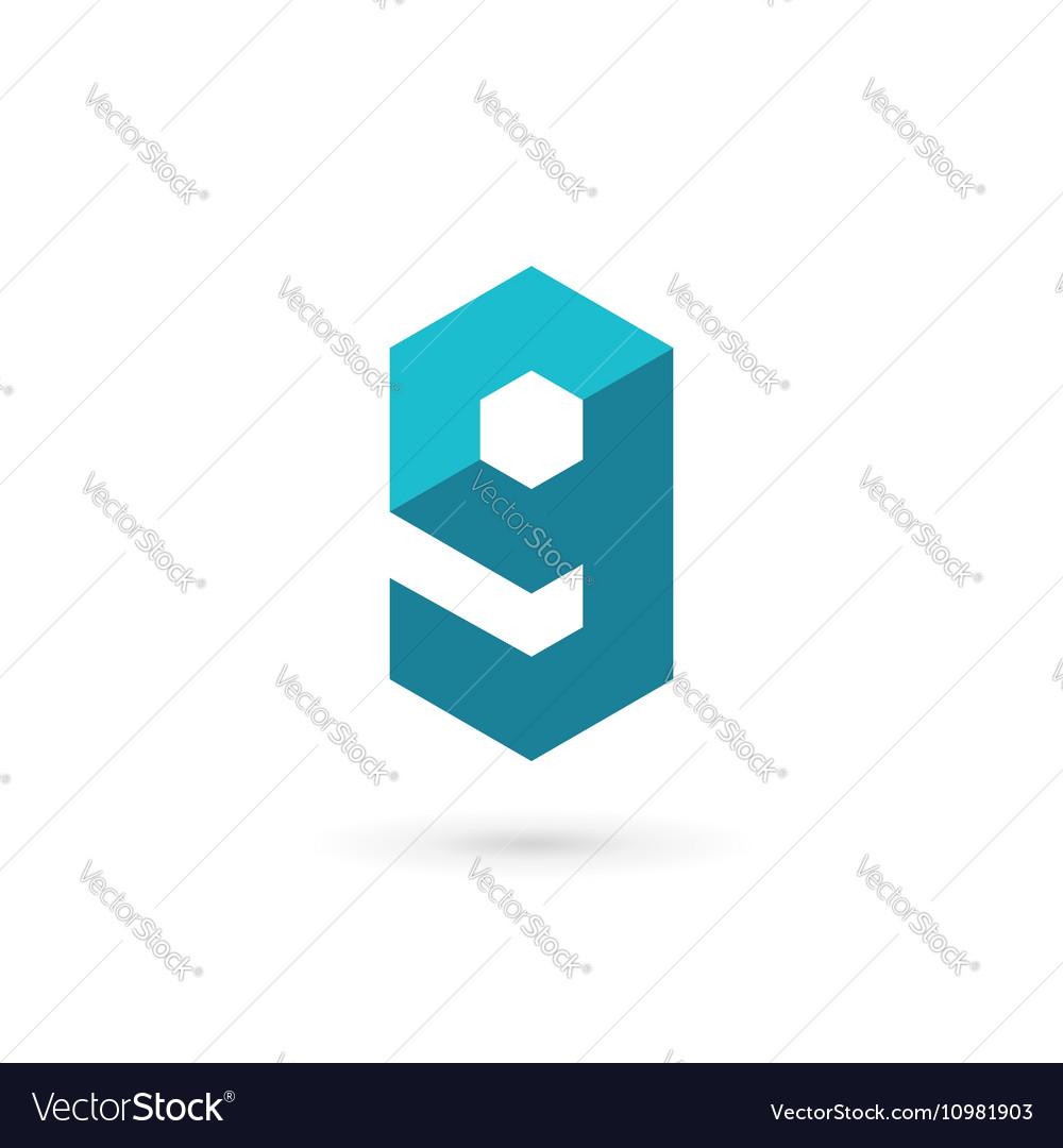 Letter G number 9 technology logo icon design