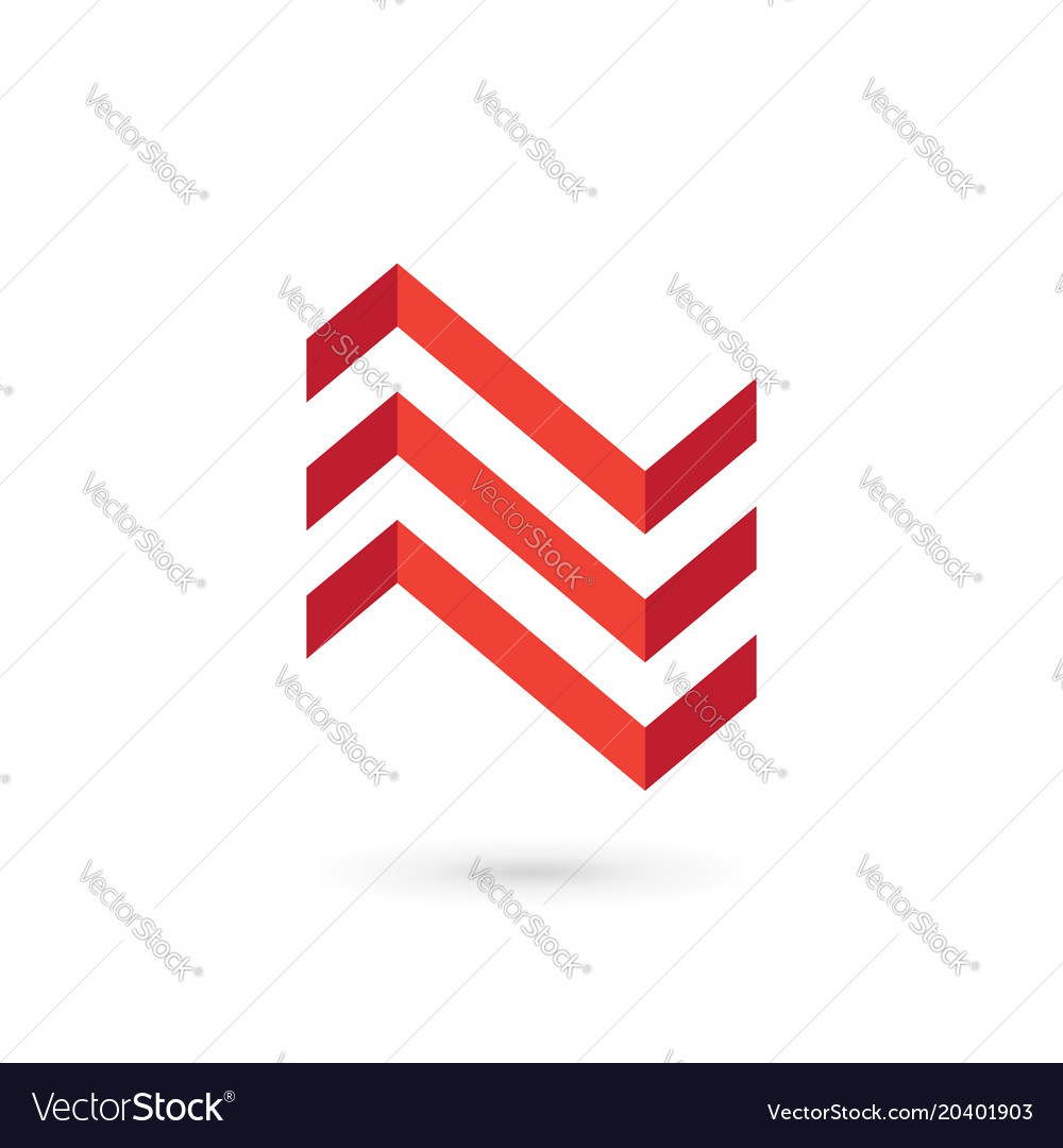 Letter n house logo icon design template elements