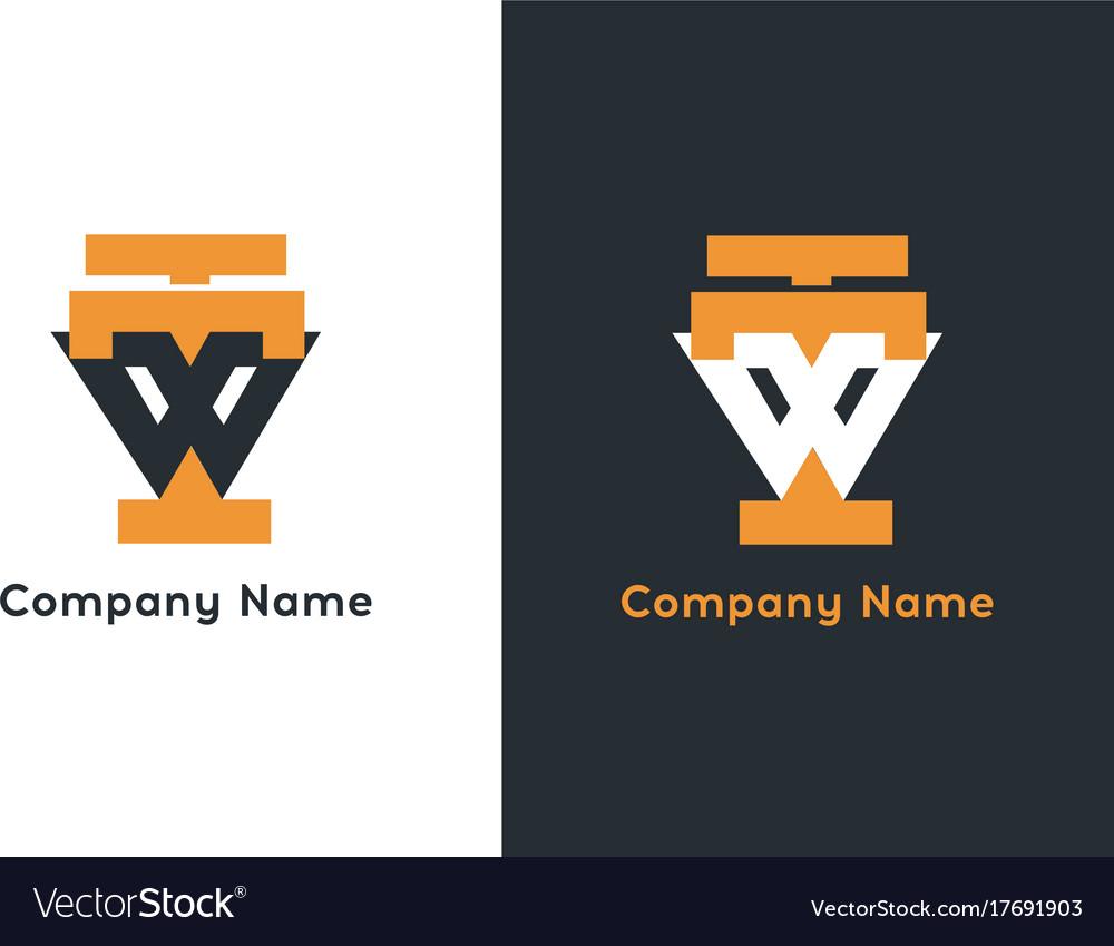 Letter ttw logo template premium monogram