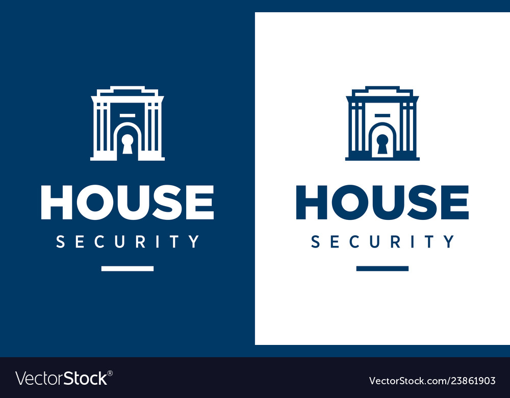 Modern professional logo house security in