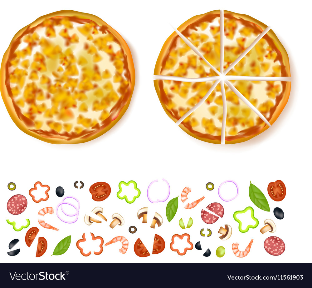 Sliced Empty Pizza Composition