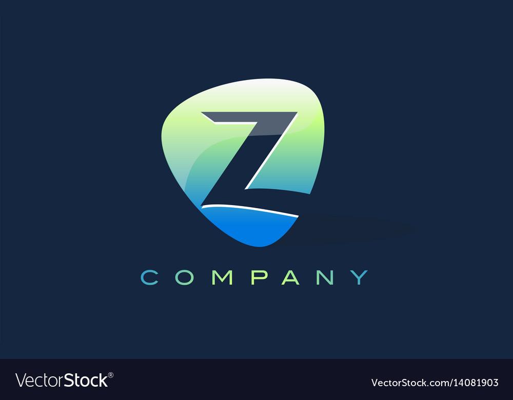 Z letter logo oval shape modern design