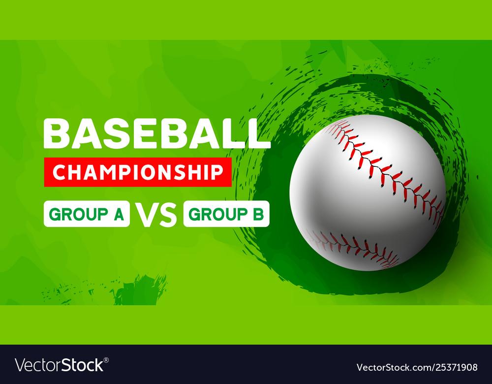 Baseball flyer poster design game tournament