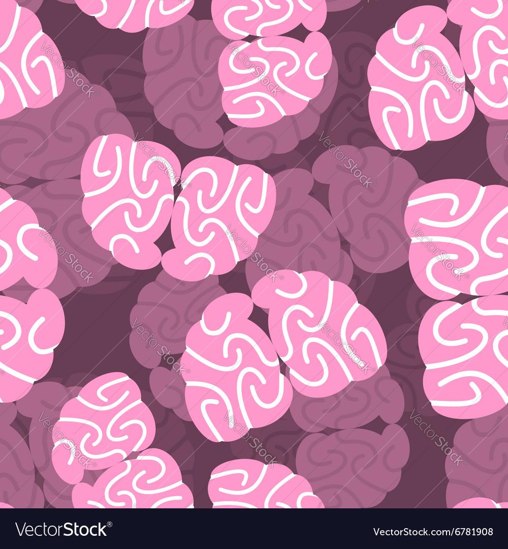 Brain 3d background Human Brain seamless pattern