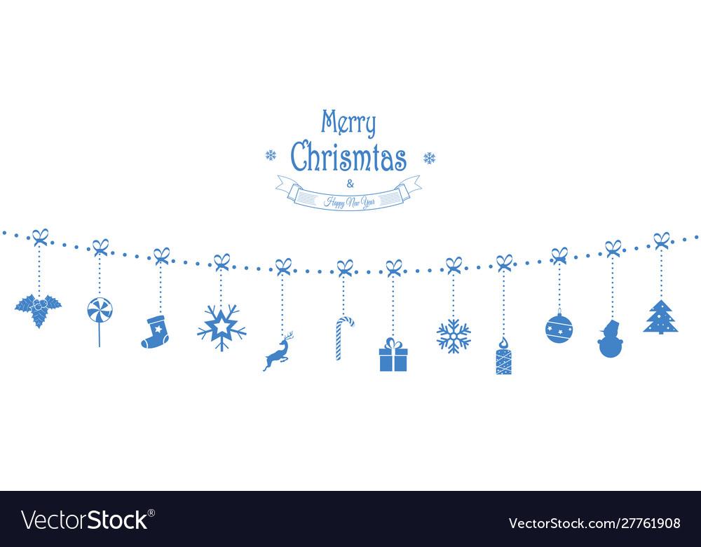 Christmas composition garland holiday