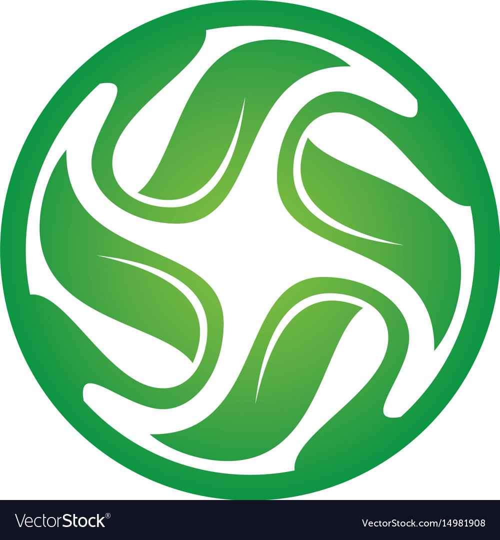 Circle leaf swirl logo image