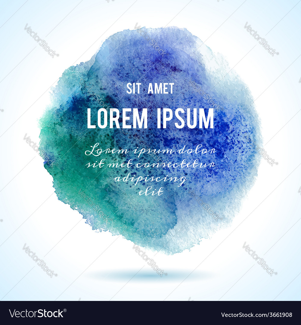 Designed abstract watercolor background design