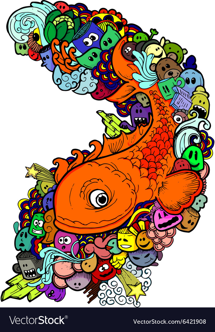 Doodle fishHand drawn
