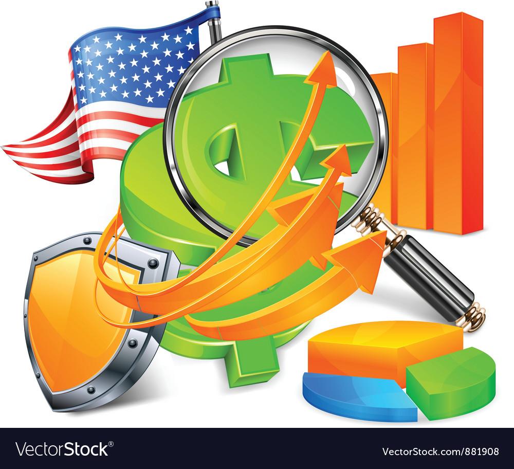 Economic development vector image